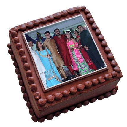 Photo Square Chocolate Cake 1kg