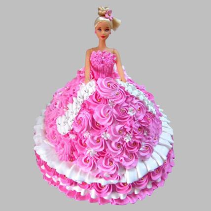 Rosy Barbie Cake Black Forest 2kg Eggless