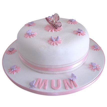 Simple and Sweet Love Mom Cake 4kg Eggless Black Forest