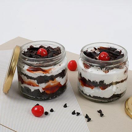 Sizzling Black Forest Jar Cake Eggless Set of 2