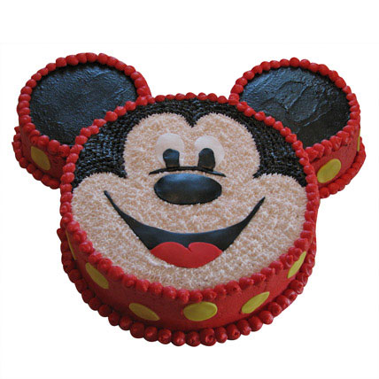Smiley Mickey Mouse Cake 2Kg Chocolate