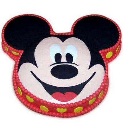 Soft Mickey Face Cake 2kg Vanilla