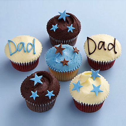 Twinkling Stars Cupcakes for Dad 24 Eggless