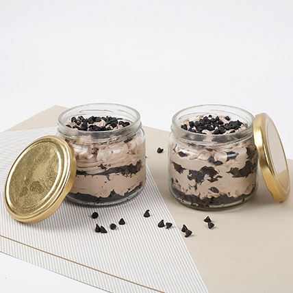 Vivacious Chocolate Jar Cake Eggless Set of 6