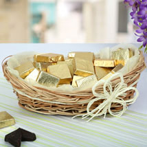 A Basket Of Golden Treat: Chocolate Gifts in India
