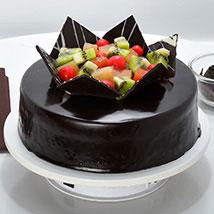 Chocolate Fruit Gateau: Cake Delivery