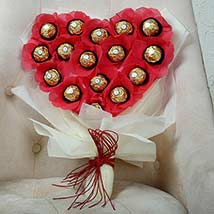Chocolate Heart Bouquet: Anniversary Gifts