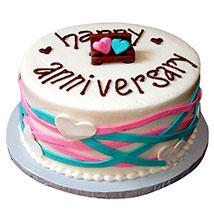 Colorful Anniversary Fondant Cake: Cakes