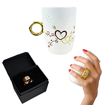 Couples Ring Cup: Gifts to Delhi