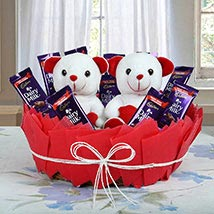 Cute Basket Of Surprise: Chocolate Gifts in India