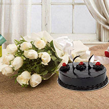 Delicious and Elegant Treat: Flowers & Cake Combos