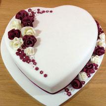 Divine Heart Cake: Send Designer Cakes