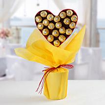 Ferrero Rocher Heart Bouquet: Birthday gifts