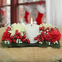 Flowerly Candle: Artificial Flowers