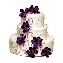 Glamorous Wedding Cake: Send Designer Cakes