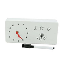 Memo Board Analog Table Clock: Love N Romance Gifts