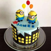 Minions with balloons: Send Designer Cakes