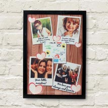 Personalized Cherishing Love Frame: Personalised Gifts