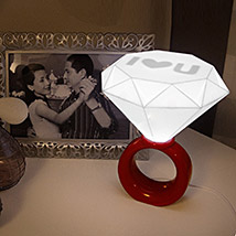 Red Diamond Ring Night Lamp: Romantic Gifts