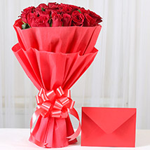 Red Roses N Greeting card: Flower Bouquets