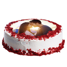 Red Velvet Photo Cake: Personalised Gifts