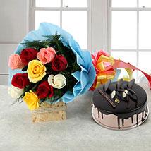 Rose Repose: Flowers & Cake Combos