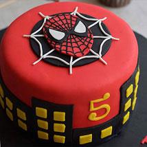Round Fondant Spiderman Cake: Designer Cakes