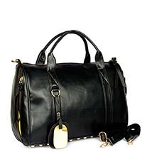 Studded Bottom Black Handbag: Birthday Gifts