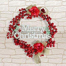 Sweet Wish Christmas Wreath: Artificial Flowers