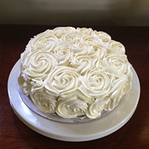 White Rose Cake: Cake Delivery