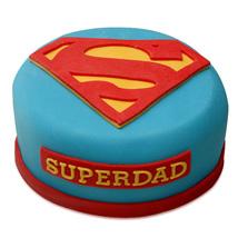 Yummy Super Dad Special Cake: Send Designer Cakes