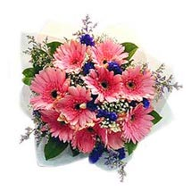 10 Pink Gerberas Bouquet MAL: Send Flowers to Malaysia