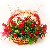 A Basket of Love: Valentine Flowers to Malaysia