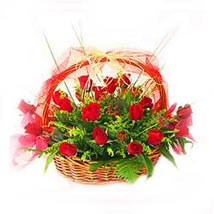 Basket of 24s Red Roses MAL: Flower Delivery in Malaysia