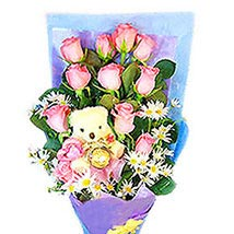 Beauty N Cuteness Bouquet: Valentine Flowers to Malaysia