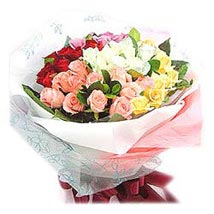 Bouquet of 36 Mixed Colours Roses MAL: Send Flowers to Malaysia