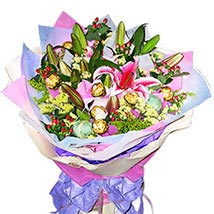 Chocolates In Flower Bouquet: Send Flower Bouquets to Malaysia