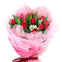 Color Play Of Tulips: Send Anniversary Flowers to Malaysia