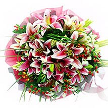 Lovely Lilies Smile Bouquet: Send Flower Bouquets to Malaysia