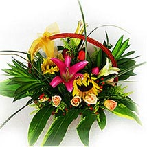 Mixed Basket Of Flowers: Lilies to Malaysia