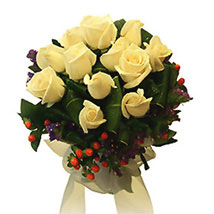 Pure Love Bouquet: Condolence Flowers Delivery in Malaysia