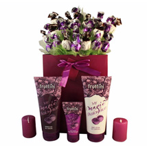 Deep purple with spa: Send Gifts to Netherlands