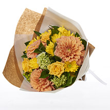 Beautiful Sunset Posy: Send Flower Bouquets to New Zealand