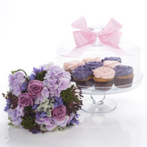 Flowers N Cakes Combo: Diwali Gifts New Zealand