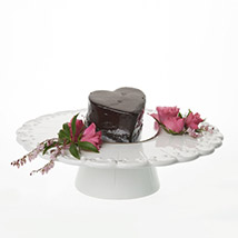 Glossy Heart Choco Cake: New-Zealand Gifts Love-N-Romance