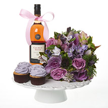Lilac Extravaganza Combo: Send Birthday Gifts to New Zealand