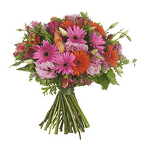 Orange N Pink Posy: Send Flower Bouquets to New Zealand