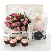 Pink Blush Hamper: Send Gifts to Hamilton