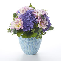 Placid Posy In Tiffany Vase: Send Birthday Gifts to New Zealand