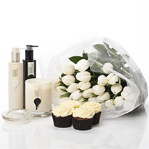White Dreamy Hamper: Diwali Gifts New Zealand